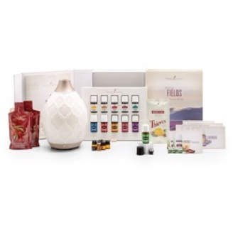 Young Living Oils Premium Starter Kit with Desert Mist Diffuser
